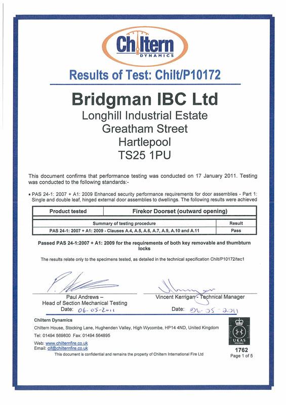 PAS 24-1  sc 1 st  Bridgman IBC Ltd & Accreditations - Bridgman IBC